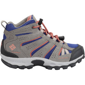 Columbia North Plains Mid Waterproof Shoes Kinder clematis blue/melonade